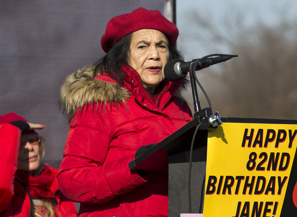 Image of Dolores Huerta a historical BIPOC (Black, Indigenous, People of Color) environmental leaders