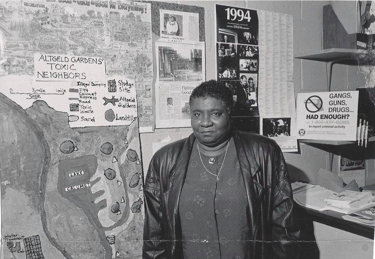 Image of Hazel Johnson a historical BIPOC (Black, Indigenous, People of Color) environmental leaders