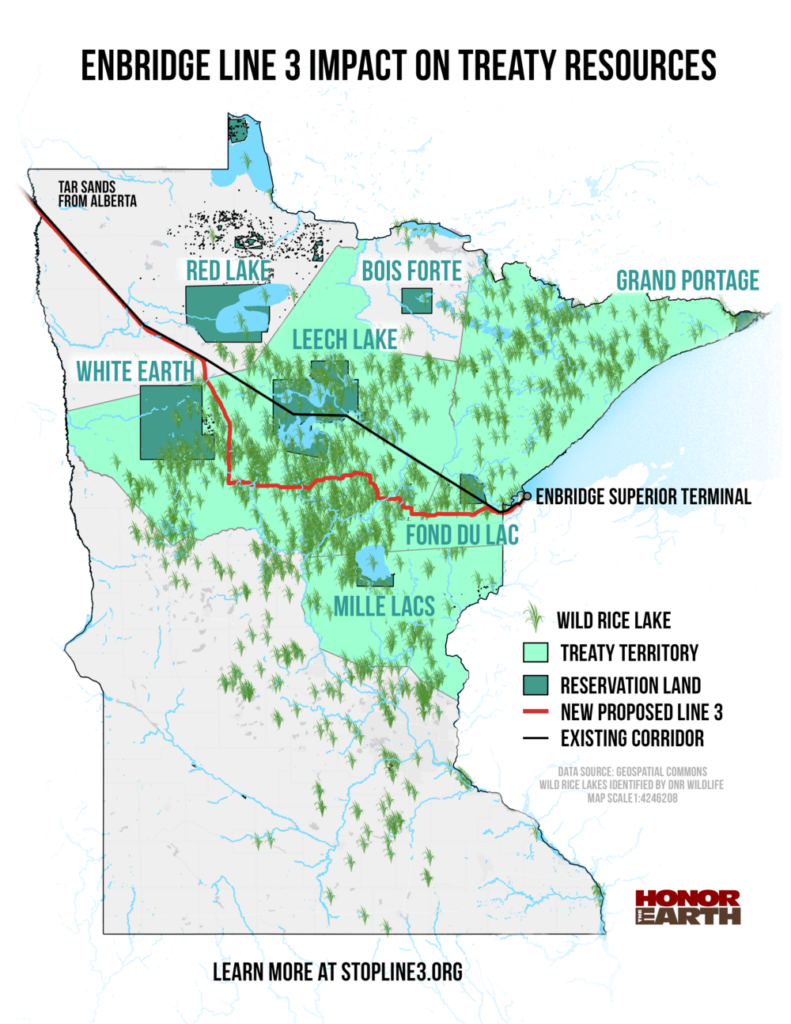 Proposed route of the Line 3 pipeline