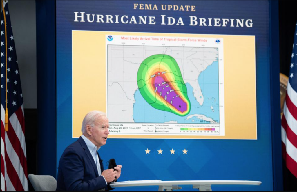 Image of President Biden recently spoke in Queens, New York, after surveying the damage left behind by Hurricane Ida to New York and New Jersey.