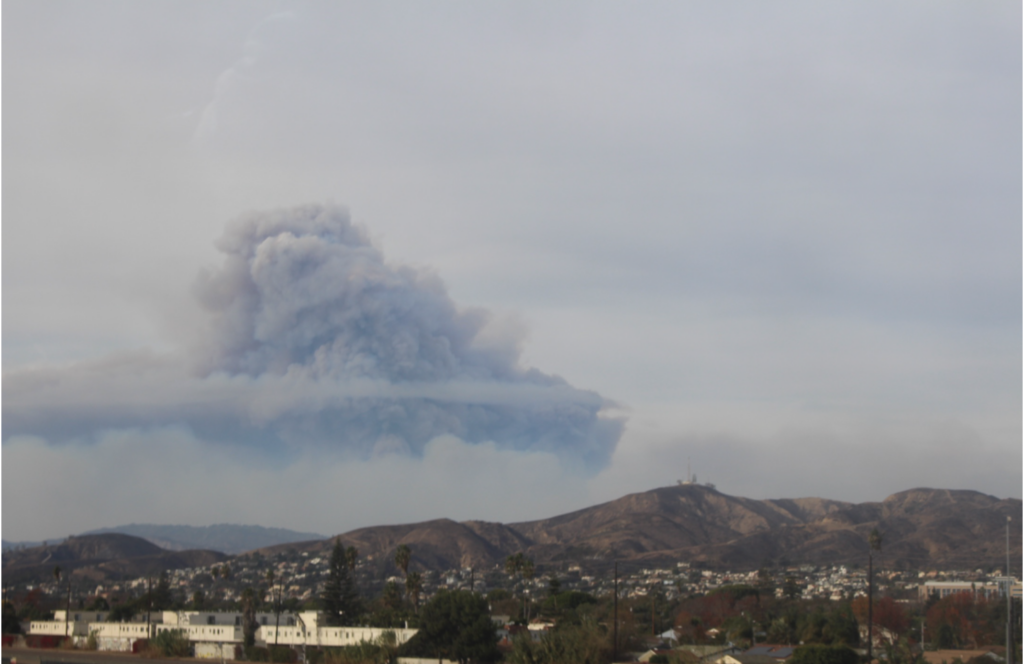 Photo captured by Indy, who will be attending this year's COP26 as part of ACE's delegation, in the aftermath of the Thomas fire in 2017.